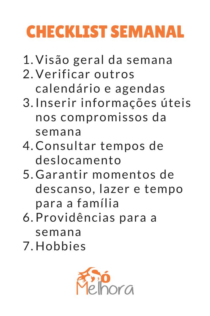 7 passos para uma boa lista de planejamento semanal
