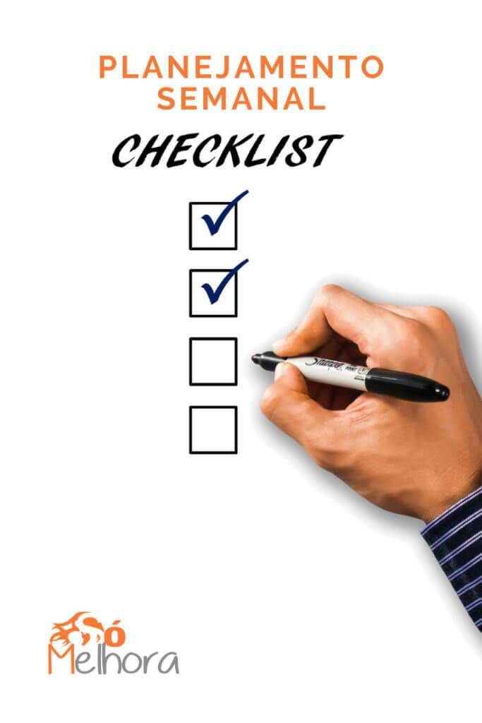imagem ilustrativa do planejamento semanal com uma checklist