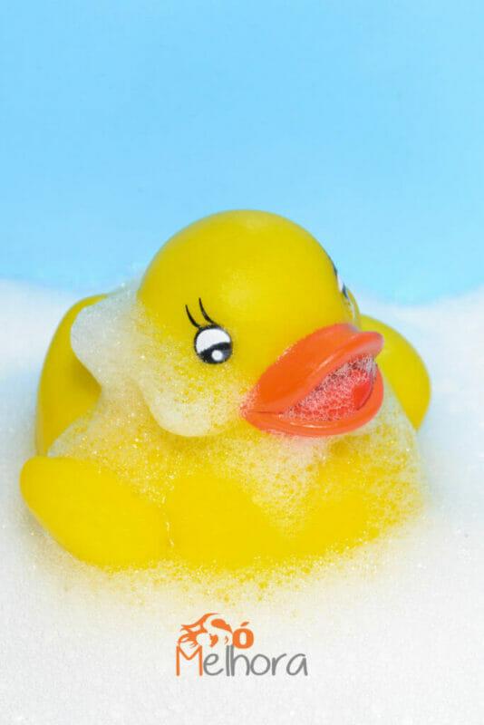 imagem de um patinho de borracha para o banho