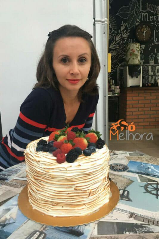quarentei: minha imagem com meu bolo de aniversário