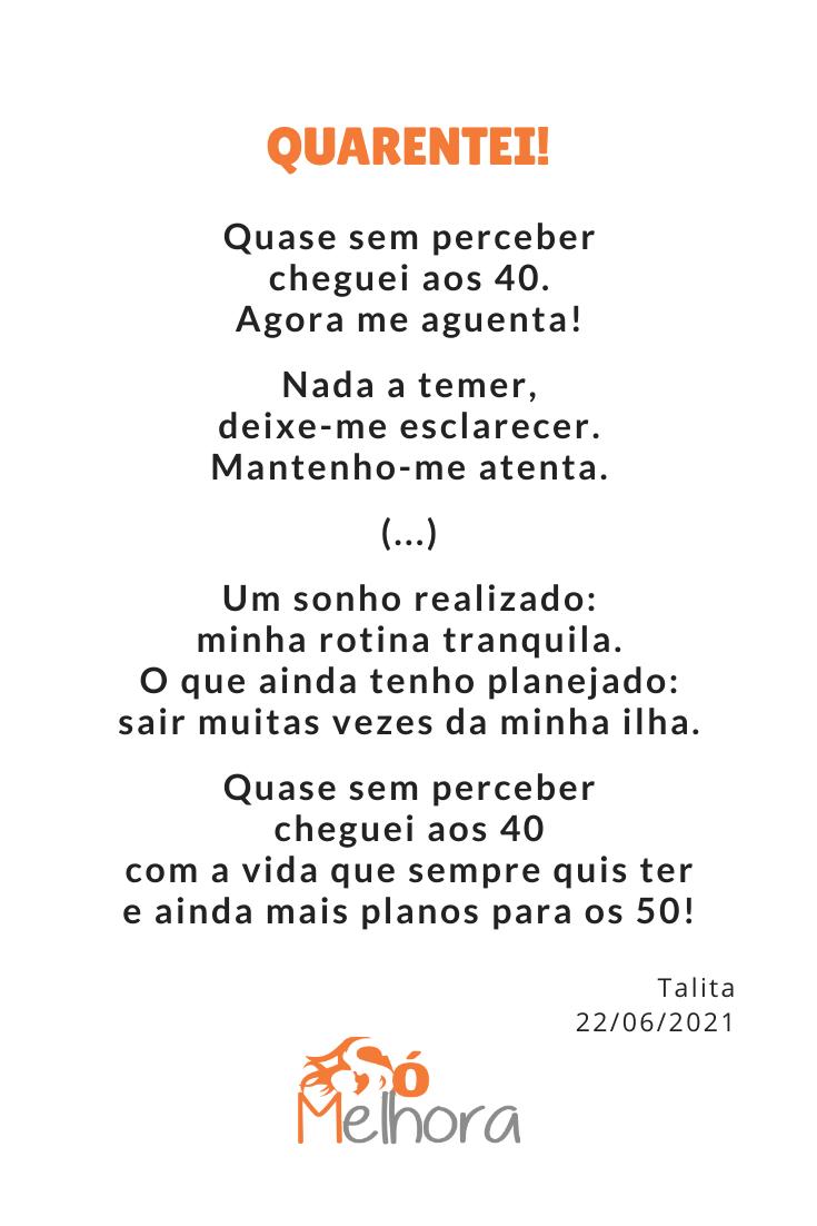 trecho do poema quarentei
