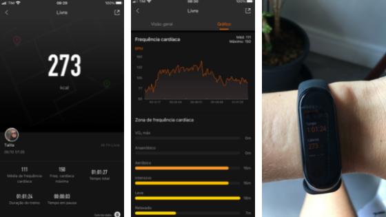 imagens do aplicativo de exercícios do meu relógio